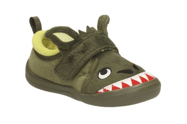 Clarks Cuba Roar Inf G Fit Green slippers