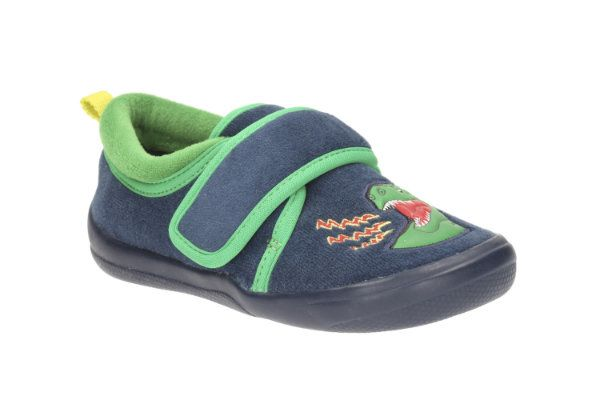 Clarks Cubastompo Inf G Fit Navy slippers