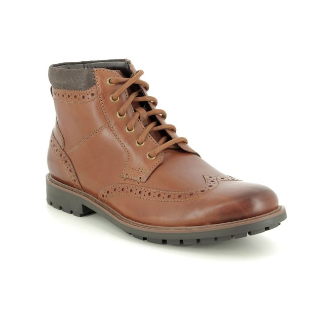 Clarks Boots - Tan Leather - 368547G CURINGTON RISE