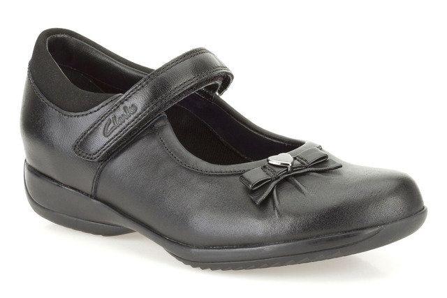 Clarks School Shoes - Black - 0080/86F DAISY GLEAM IN