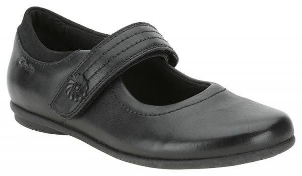Clarks Daisy Jump Inf D Fit Black everyday shoes