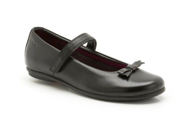Clarks Daisy Meadow G Fit Black school shoes
