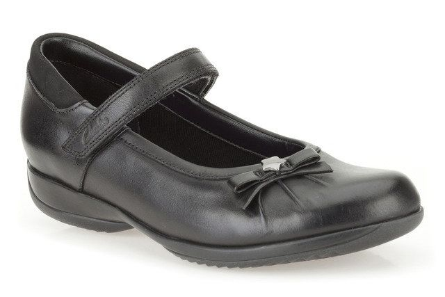 Clarks Daisy Spark Jn F Fit Black school shoes