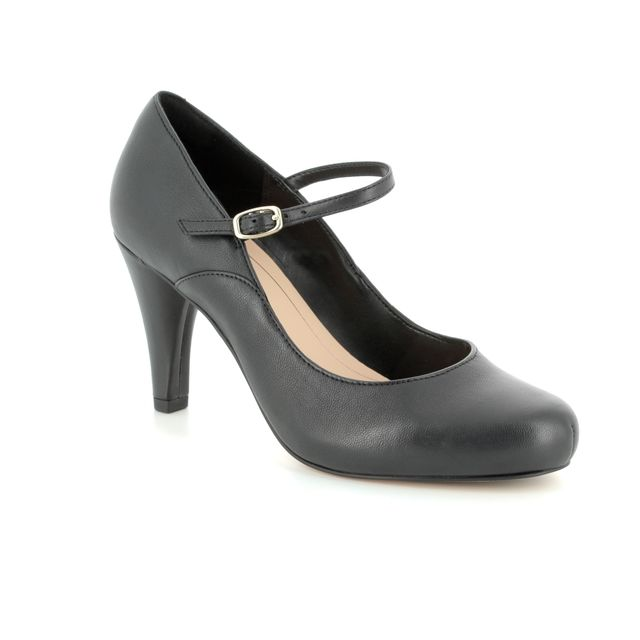 Clarks Dalia Lily D Fit Black high-heeled shoes