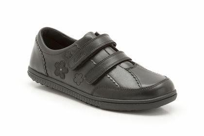 Clarks Dana Bell F Fit Black school shoes