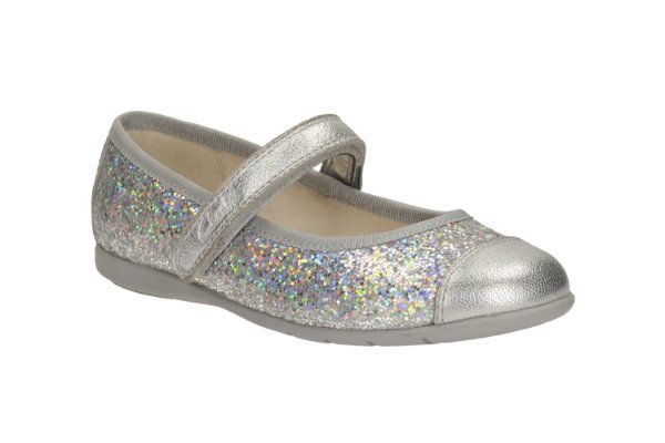 Clarks Dance Idol Pre F Fit Silver everyday shoes