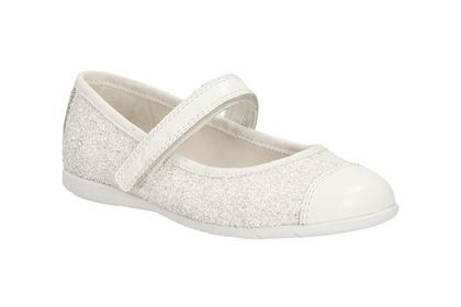 Clarks Dance Idol Pre F Fit White everyday shoes