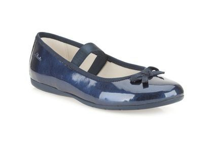 Clarks Dance Shine Pr F Fit Navy patent everyday shoes
