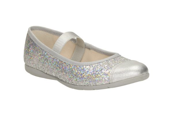Clarks Dance Solo Inf F Fit Silver everyday shoes
