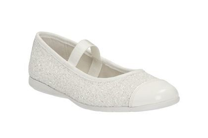 Clarks Dance Solo Inf F Fit White everyday shoes