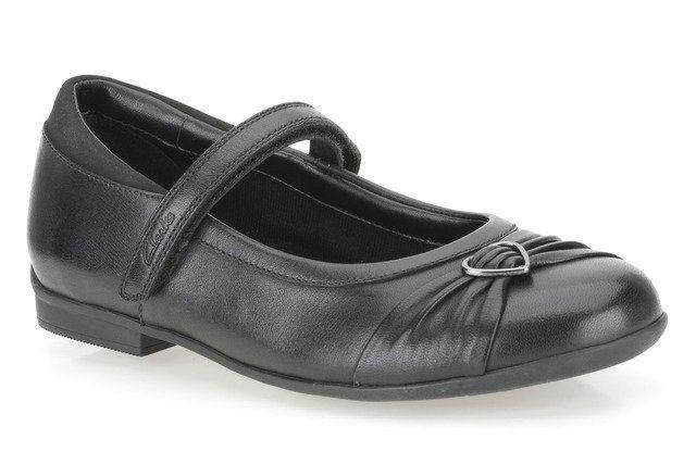 Clarks School Shoes - Black - 5360/36F DOLLY HEART
