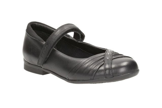 Clarks School Shoes - Black - 0668/46F DOLLY SHY INF