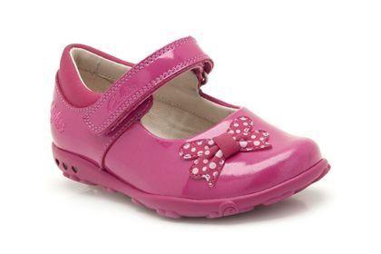 Clarks Ella Star Fst G Fit Fuchsia patent first shoes