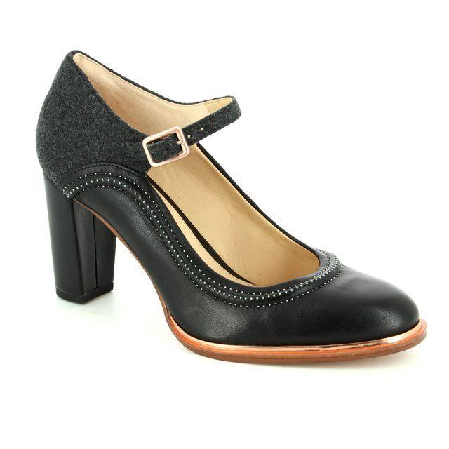 Clarks Ellis Mae D Fit Black multi high-heeled shoes
