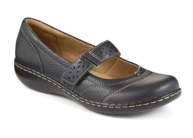 Clarks Embrace Lux D Fit Navy comfort shoes