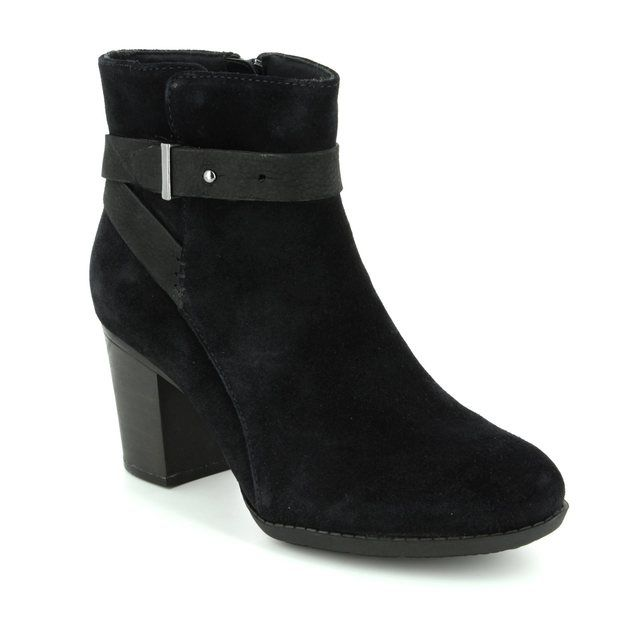 Clarks Ankle Boots - Black suede - 2884/44D ENFIELD SARI