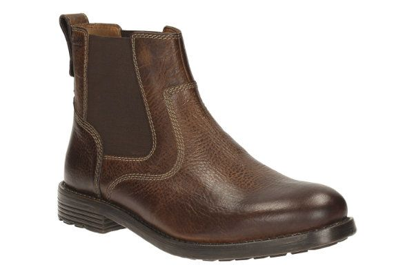 Clarks Faulkner On G Fit Tan boots