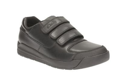Clarks Flare Lite Inf F Fit Black school shoes