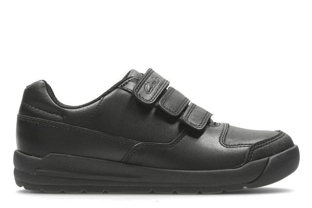 Clarks School Shoes - Black - 1893/07G FLARE LITE JNR