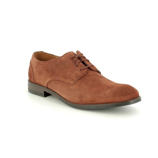 Clarks Fashion Shoes - Brown Suede - 419577G FLOW PLAIN