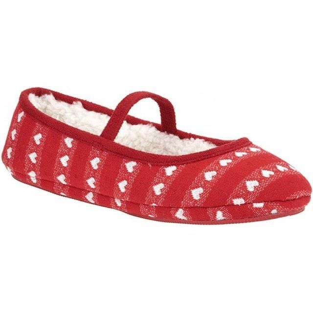Clarks Slippers - Red - 5681/06F FLUTTER DREAMS