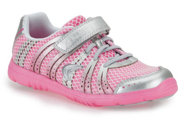 Clarks Free Sprint In F Fit Pink multi trainers