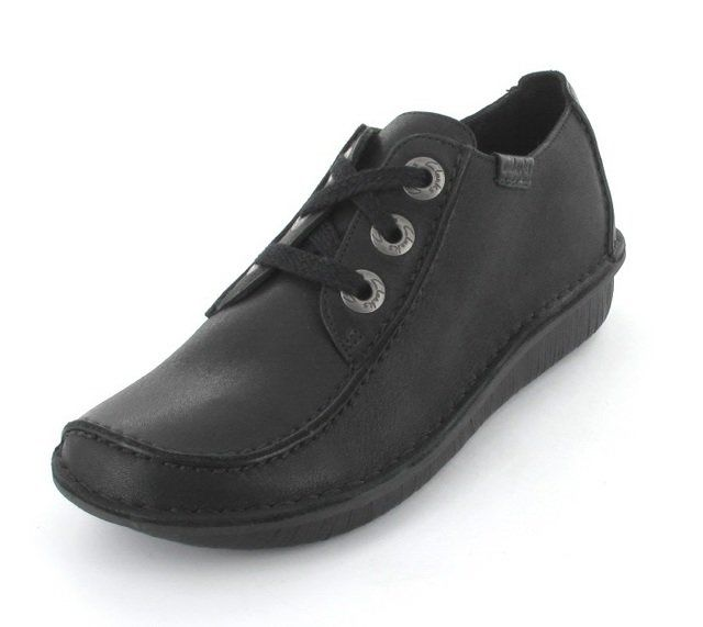 Clarks Funny Dream D Fit Black lacing shoes