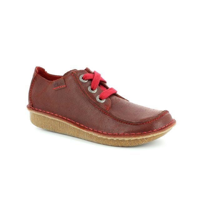 Clarks Funny Dream D Fit Dark Red lacing shoes