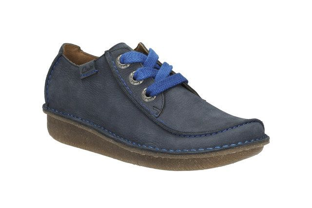 Clarks Funny Dream D Fit Navy nubuck lacing shoes