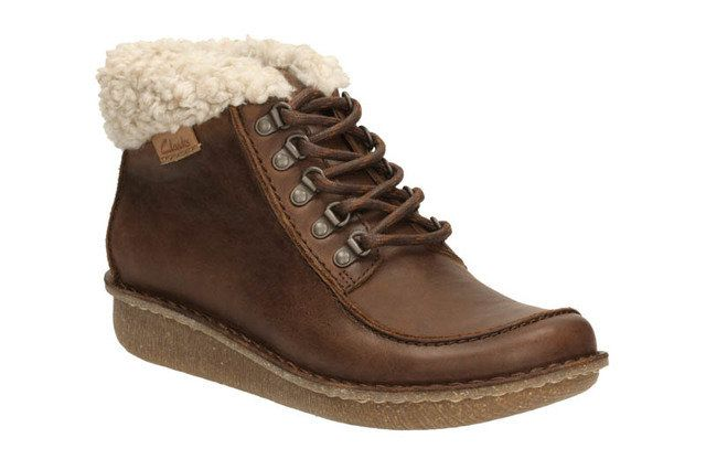 Clarks Funny Girl D Fit Brown ankle boots