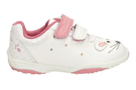 Clarks Giggle Up Fst F Fit White first shoes