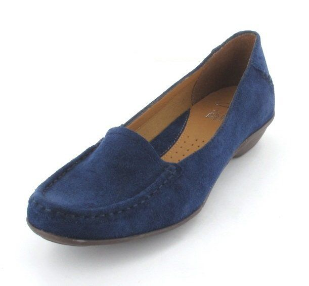 Clarks Gilded Opal D Fit Navy suede comfort shoes