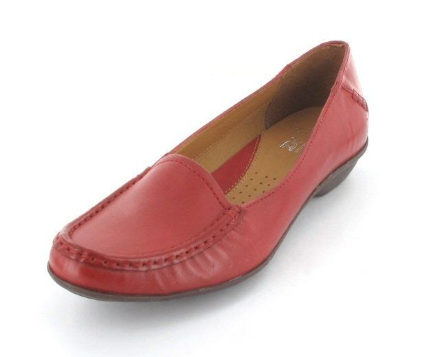 Clarks Gilded Opal D Fit Red comfort shoes