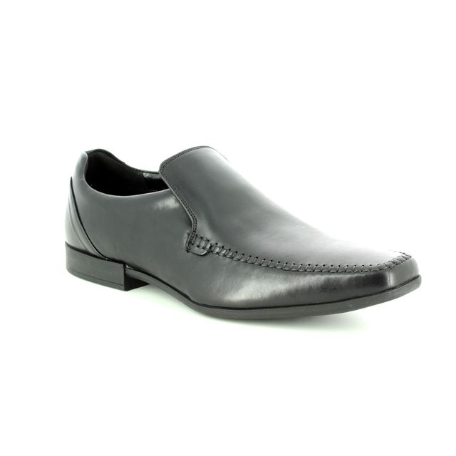 Clarks Glement Seam G Fit Black leather formal shoes