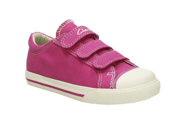 Clarks Gracie Lass In F Fit Pink trainers