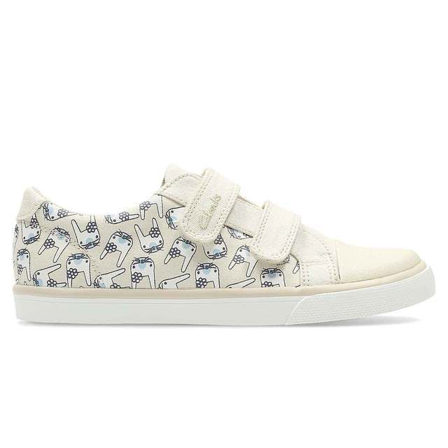 Clarks Gracie Pip Inf F Fit Cotton trainers