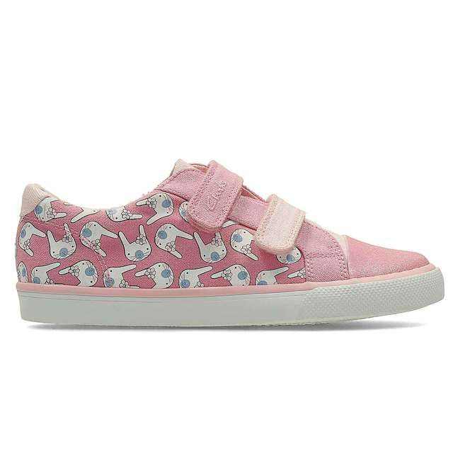 Clarks Gracie Pip Inf F Fit Pink multi trainers