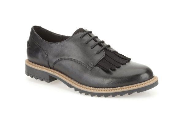 Clarks Griffin Mabel D Fit Black lacing shoes