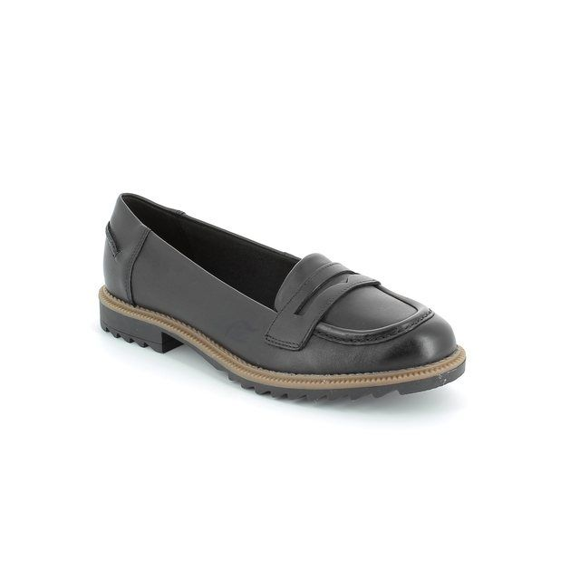 Clarks Griffin Milly D Fit Black loafers