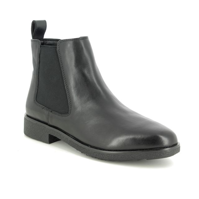 Clarks Chelsea Boots - Black leather - 431084D GRIFFIN PLAZA