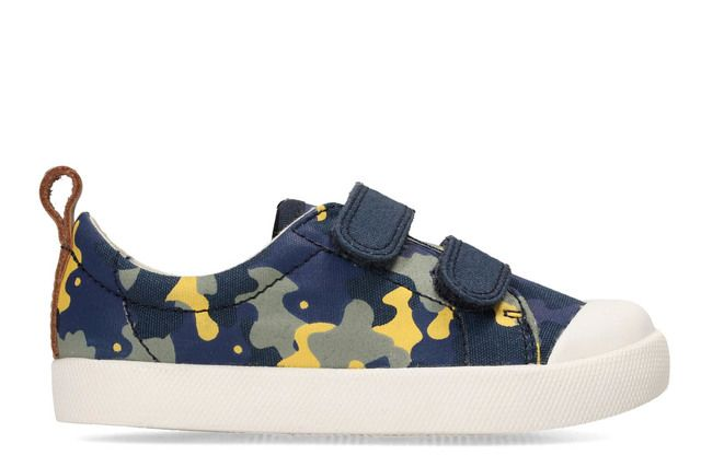 Clarks First Shoes - Navy multi - 3170/26F HALCY HIGH