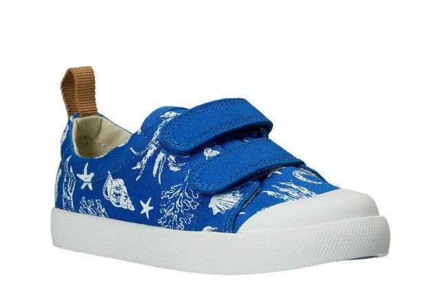 Clarks First Shoes - Blue multi - 2344/56F HALCY HIGH FST