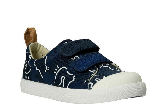 Clarks Halcy High Fst G Fit Navy multi first shoes
