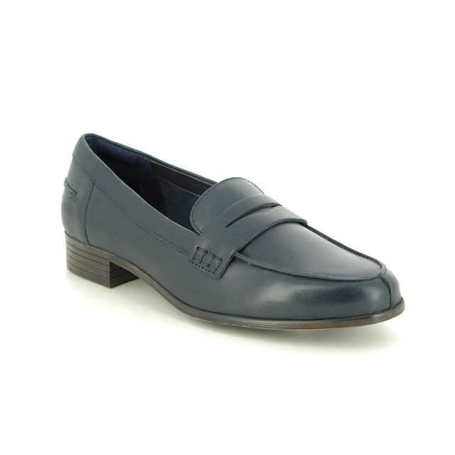 Clarks Hamble Loafer D Fit Navy Leather loafers