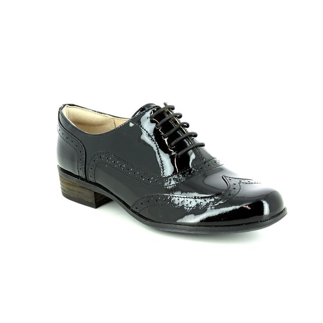Clarks Brogues - Black patent - 506494D HAMBLE OAK