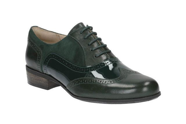 Clarks Hamble Oak D Fit Green multi comfort shoes