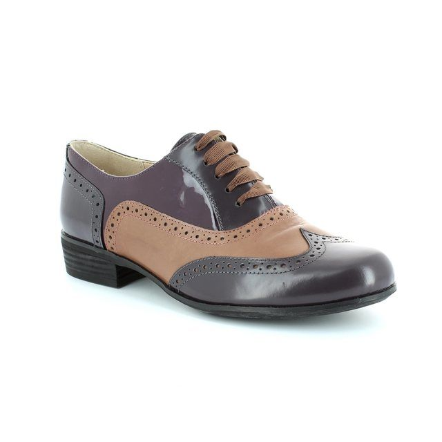 Clarks Hamble Oak D Fit Purple multi comfort shoes