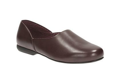Clarks Harston Lounge G Fit Wine slippers