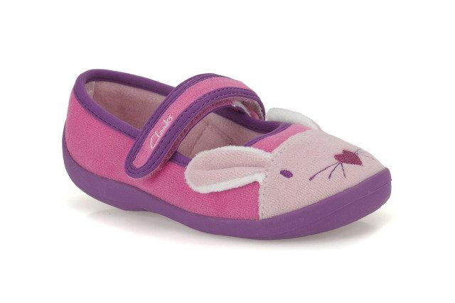 Clarks Hatter Sleep F Fit Pink multi slippers