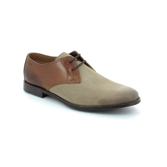 Clarks Hawkley Walk G Fit Taupe-tan combi fashion shoes